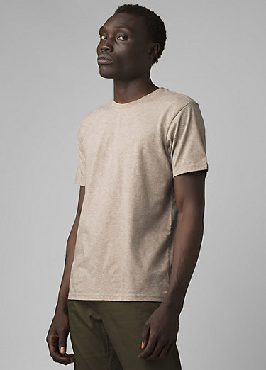 prAna Crew T-Shirt prAna Crew T-Shirt, Dark Khaki Heather