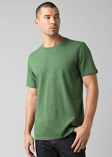 prAna Crew T-Shirt prAna Crew T-Shirt, Pineneedle Heather