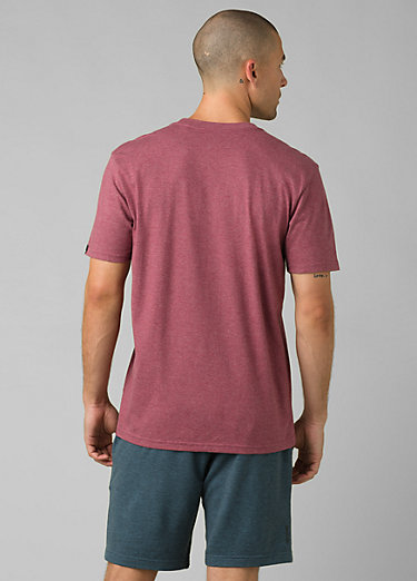 prAna Crew T-Shirt prAna Crew T-Shirt, Rosewood Heather