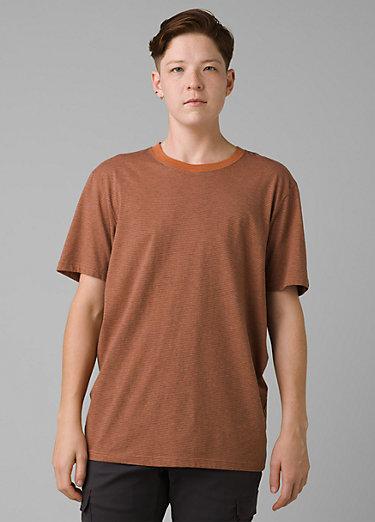 prAna Crew T-Shirt prAna Crew T-Shirt, Russet Stripe