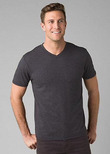PrAna V-Neck T-Shirt PrAna V-Neck T-Shirt, Black Stripe