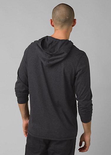 prAna Hooded T-Shirt prAna Hooded T-Shirt, Black Stripe
