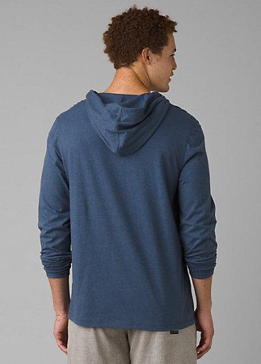 prAna Hooded T-Shirt prAna Hooded T-Shirt, Denim Heather