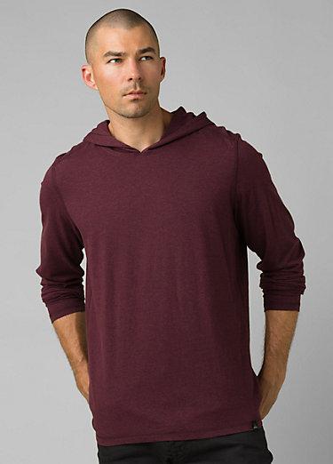 prAna Hooded T-Shirt prAna Hooded T-Shirt, Raisin Heather