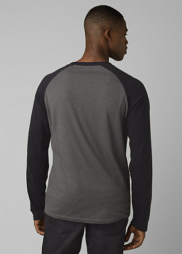 prAna Baseball Raglan prAna Baseball Raglan, Charcoal Heather
