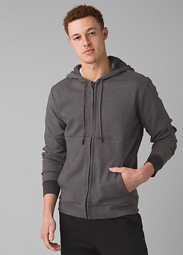 Theon Full Zip Hood Theon Full Zip Hood, Charcoal