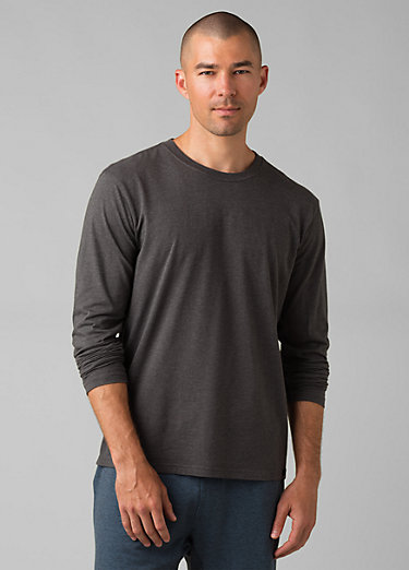 prAna Long Sleeve T-shirt prAna Long Sleeve T-shirt, Charcoal Heather