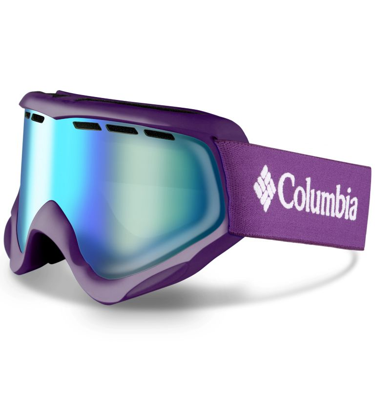 Kids' Whirlibird C3 Snow Goggle|592|O/S Whirlibird Ski Goggles - Small, Iris Glow/Grey/Green Ion, front
