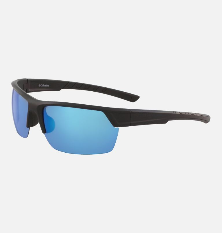 Men's Peak Racer Sunglass | 011 | NONE Men's Peak Racer Sunglasses, Matte Black/Blue Flash Polar, back