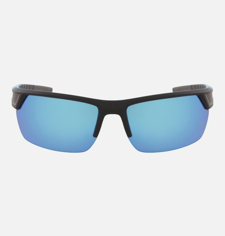 Men's Peak Racer Sunglass | 011 | NONE Men's Peak Racer Sunglasses, Matte Black/Blue Flash Polar, front