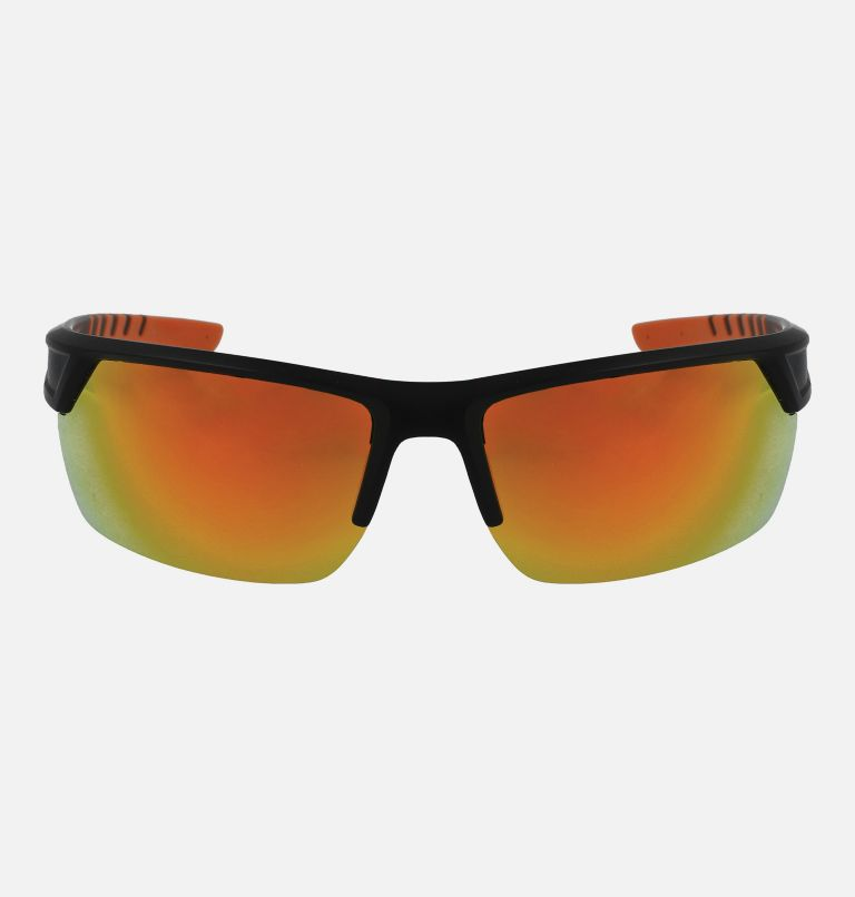 Men's Peak Racer Sunglass   012   NONE Men's Peak Racer Sunglasses, Matte Black/Orange, front