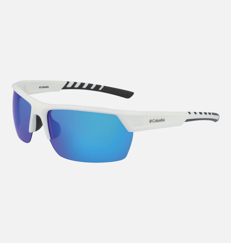 Men's Peak Racer Sunglass | 101 | NONE Men's Peak Racer Sunglasses, White/Blue, back