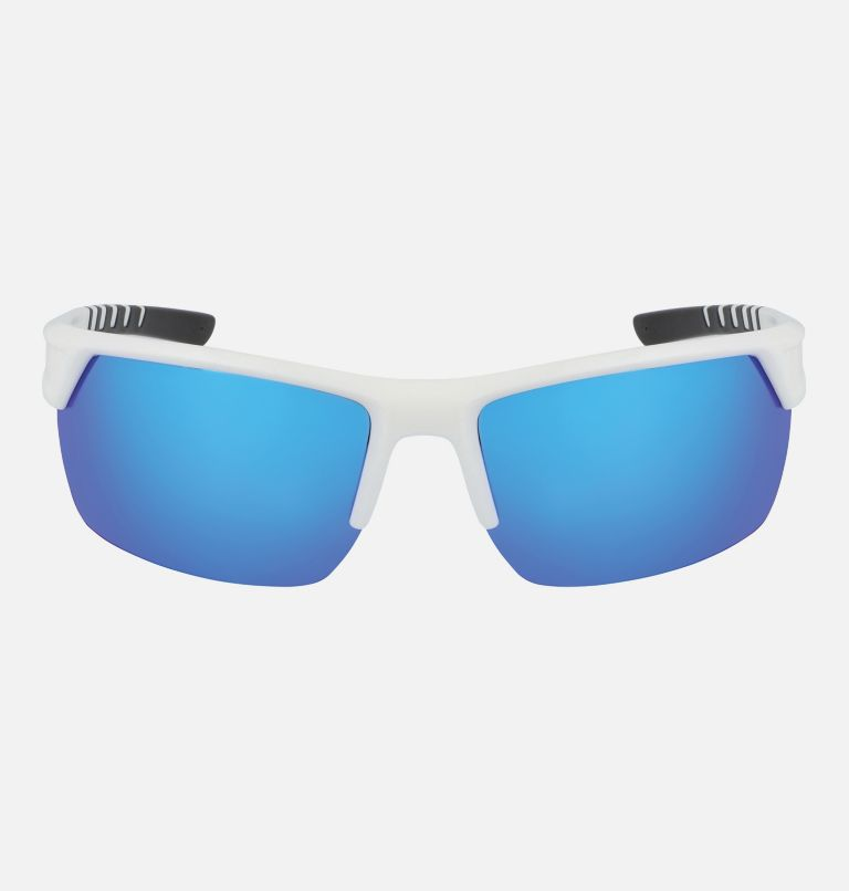 Men's Peak Racer Sunglass | 101 | NONE Men's Peak Racer Sunglasses, White/Blue, front