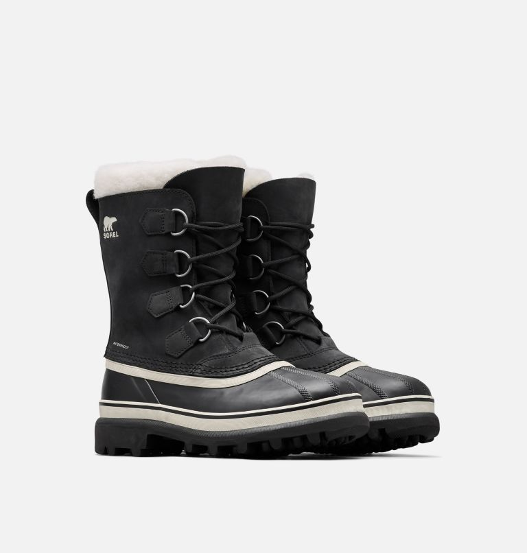 CARIBOU™ | 011 | 10.5 Women's Caribou® Boot, Black, Stone, 3/4 front