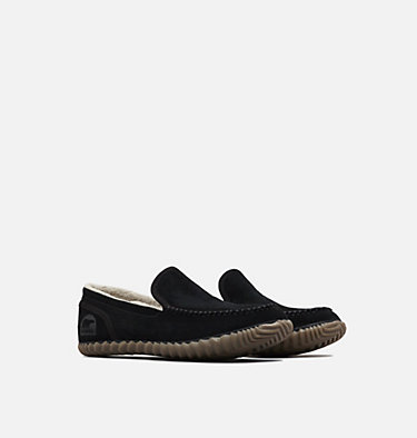Men's Dude Moc™ Slipper SOREL DUDE MOC™ | 053 | 10, Black, Black, 3/4 front