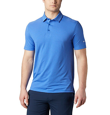 Men's Omni-Wick™ One Swing Polo Men's Omni-Wick Breaker Golf P | 437 | S, Azul, front