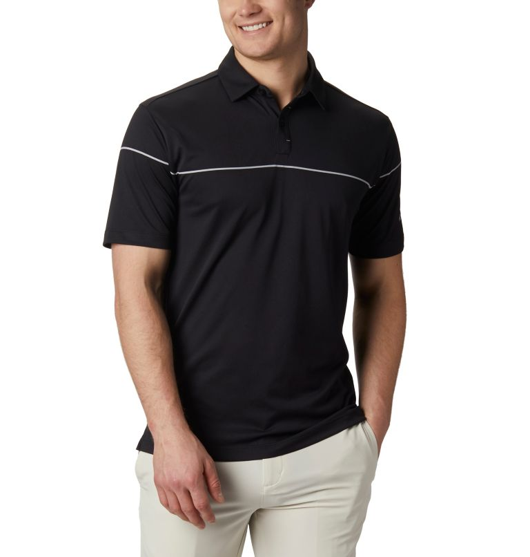 Men's Omni-Wick Breaker Golf P | 010 | S Men's Omni-Wick™ Breaker Golf Polo, Black, front