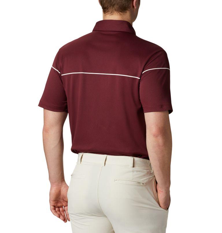 Men's Omni-Wick Breaker Golf P | 699 | XL Men's Omni-Wick™ Breaker Golf Polo, Deep Maroon, back