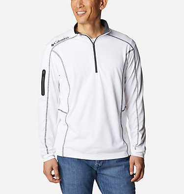 Men's Omni-Wick™ Shotgun Quarter-Zip Pullover Shotgun Golf 1/4 Zip | 895 | M, White, front