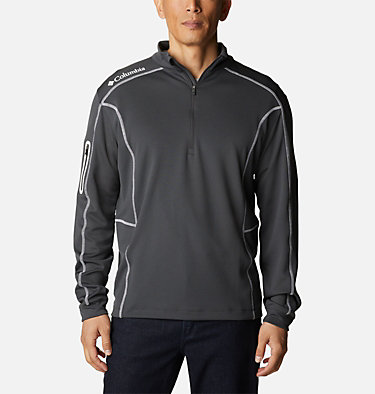 Men's Omni-Wick™ Shotgun Quarter-Zip Pullover Shotgun Golf 1/4 Zip | 895 | M, Forged Iron, front
