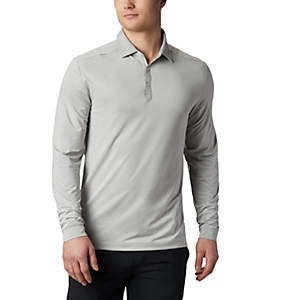 Men's Omni-Wick Pin High  LS Polo
