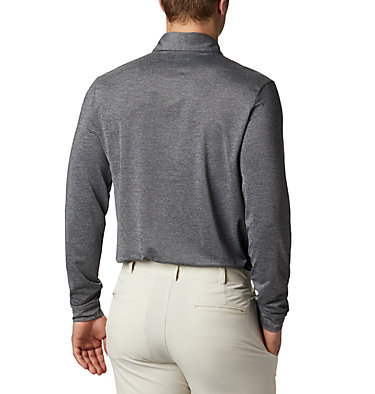 Men's Omni-Wick Pin High  LS Polo Men's Golf Omni Wick Pin High  | 100 | L, Black, back