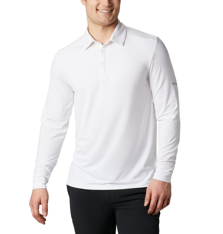 Men's Omni-Wick Pin High  LS Polo Men's Omni-Wick Pin High  LS Polo, front
