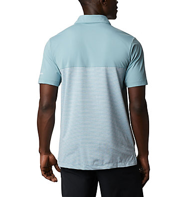 Men's Omni-Wick Stacked Polo Men's Omni-Wick Stacked Polo | 019 | S, Storm Blue, back