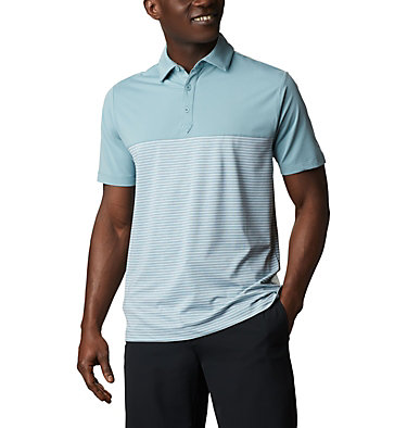 Men's Omni-Wick Stacked Polo Men's Omni-Wick Stacked Polo | 019 | S, Storm Blue, front