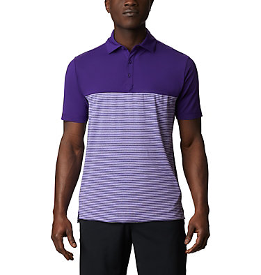 Men's Omni-Wick Stacked Polo Men's Omni-Wick Stacked Polo | 019 | S, Purple, front