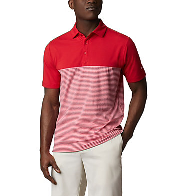 Men's Omni-Wick Stacked Polo Men's Omni-Wick Stacked Polo | 019 | S, Intense Red, front