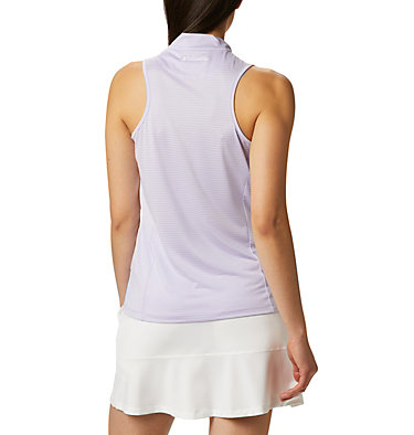 Women's Omni-Wick™ Hole High Sleeveless Polo Women's Omni-Wick Hole High Sleeveless Polo | 010 | S, Soft Violet, back