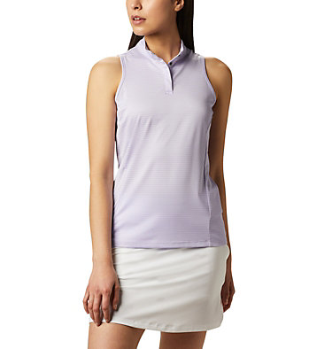 Women's Omni-Wick™ Hole High Sleeveless Polo Women's Omni-Wick Hole High Sleeveless Polo | 010 | S, Soft Violet, front
