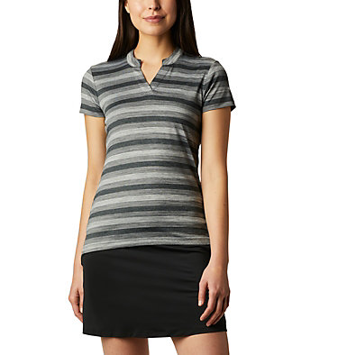 Women's Omni-Wick™ Chatter Polo Women's Omni-Wick Chatter Polo | 437 | S, Black, front