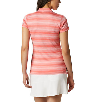 Women's Omni-Wick™ Chatter Polo Women's Omni-Wick Chatter Polo | 437 | S, Hot Coral, back