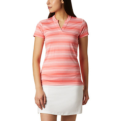 Women's Omni-Wick™ Chatter Polo Women's Omni-Wick Chatter Polo | 437 | S, Hot Coral, front