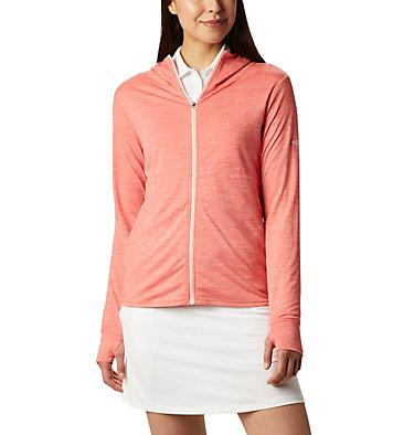 Women's Omni-Wick™ Sky Full Zip Long Sleeve Shirt Women's Omni-Wick Sky Full Zip | 010 | S, Hot Coral, front