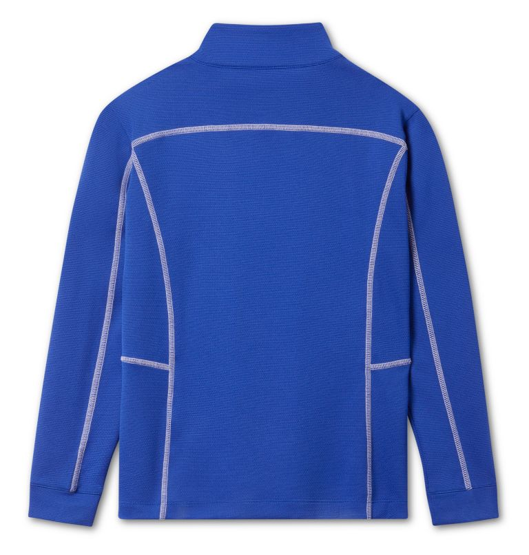 Kids' Shotgun   437   S Kids' Omni-Wick™ Shotgun Quarter Zip Long Sleeve Shirt, Azul, back