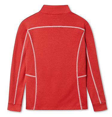 Kids' Omni-Wick™ Shotgun Quarter Zip Long Sleeve Shirt Kids' Shotgun | 437 | XS, Intense Red, back