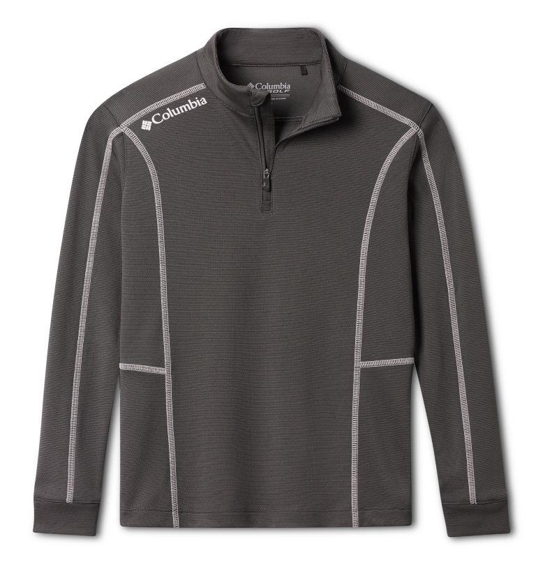 Kids' Shotgun | 895 | M Kids' Omni-Wick™ Shotgun Quarter Zip Long Sleeve Shirt, Forged Iron, front