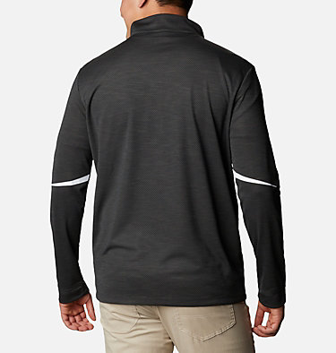 Men's Omni-Wick™ Scorecard Pullover Shotgun Golf 1/4 Zip | 437 | S, Black, back