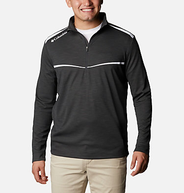 Men's Omni-Wick™ Scorecard Pullover Shotgun Golf 1/4 Zip | 437 | S, Black, front