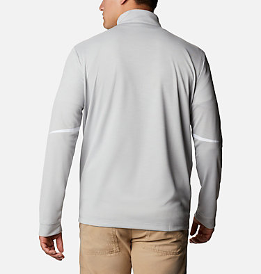 Men's Omni-Wick™ Scorecard Pullover Shotgun Golf 1/4 Zip | 437 | S, Columbia Grey, back