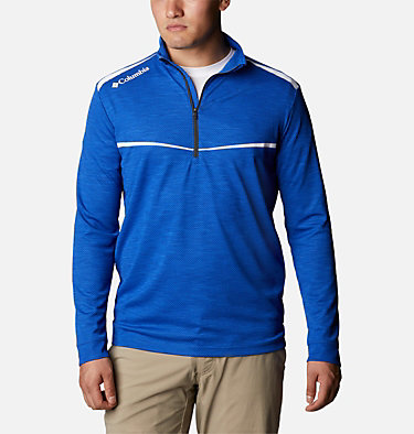 Men's Omni-Wick™ Scorecard Pullover Shotgun Golf 1/4 Zip | 437 | S, Azul, front