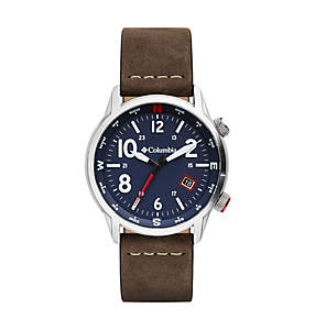 Outbacker Three-Hand Leather Watch