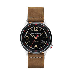 Canyon Ridge Three-Hand Leather Watch