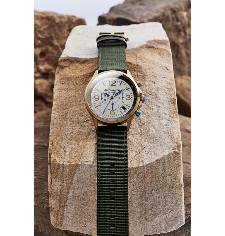 Canyon Ridge Stone Chronograph Date Olive Nylon Watch| 022 | O/S Canyon Ridge Chronograph Nylon Watch, Stone, a2