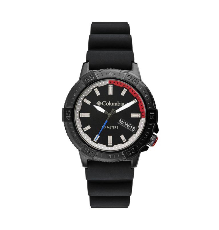 Peak Patrol Black 3-Hand Day Date Black Silicone Watch  010   O/S Peak Patrol Three-Hand Date Silicone Watch, Black, front