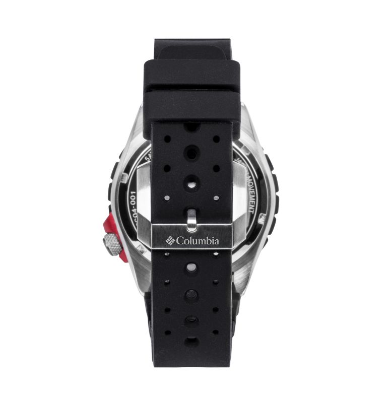 Pacific Outlander Black 3-Hand Date Black Silicone Watch | 010 | O/S Pacific Outlander Three-Hand Date Silicone Watch, Black, back