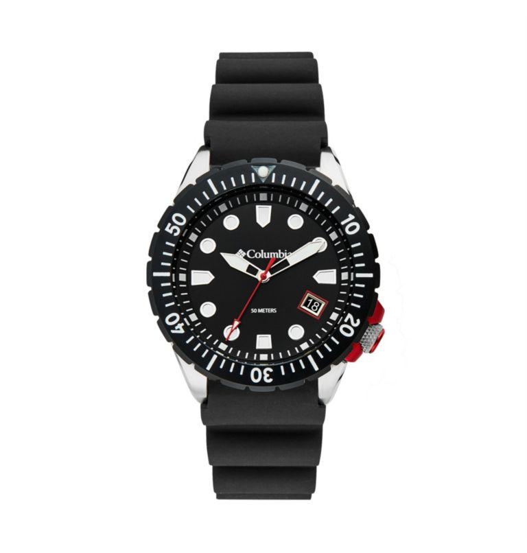 Pacific Outlander Black 3-Hand Date Black Silicone Watch   010   O/S Pacific Outlander Three-Hand Date Silicone Watch, Black, front